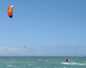 Kite Boarding off of Maui's Kite Beach