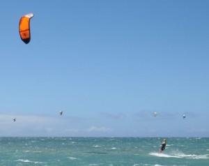 Kite Boarding off of Maui's Kite Beach